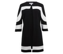 Mantel mit 3/4-Arm - schwarz/ weiss