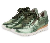 Sneaker - grün metallic
