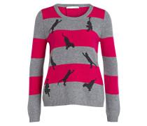 Pullover - pink/ grau/ schwarz