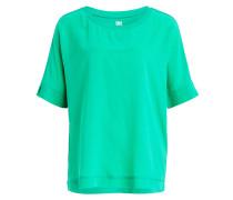 Oversized-Seidenshirt - grün