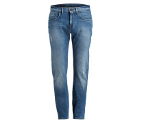 Destroyed-Jeans BLEECKER Slim-Fit - blau