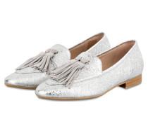Tassel-Loafer - silber