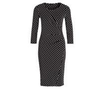 Jerseykleid in Wickeloptik - schwarz
