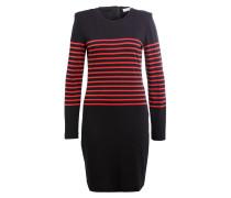 Kleid THEO - schwarz/ rot gestreift