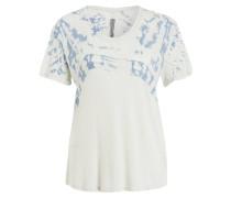 T-Shirt - ecru/ blau