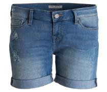 Jeans-Shorts CAMILLA - mid uptown str blue