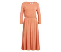Kleid mit 3/4-Arm im Materialmix