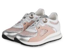 Plateau-Sneaker MINA 3 - WEISS/ NUDE