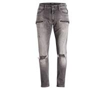 Destroyed-Jeans JONDRILL Slim-Fit - grau