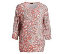 Blusenshirt - rot/beige/grau