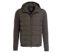 Lightweight-Daunenjacke im Materialmix