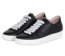 Sneaker mit Perlenbesatz - schwarz