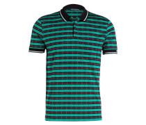 Poloshirt - brau / grün