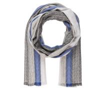 Schal - blau/ weiss/ silber