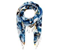 Tuch NANATURE - blau/ senfgelb/ hellbraun
