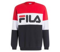 Sweatshirt - schwarz/ rot/ weiss