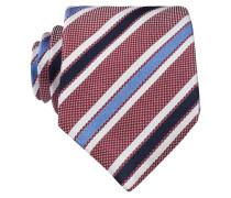 Krawatte - bordeaux/ weiss/ blau