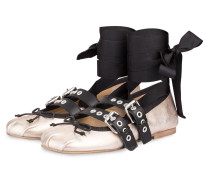 Ballerinas - gold metallic/ schwarz