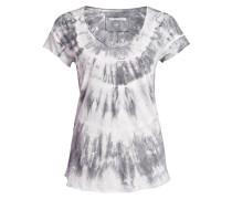 T-Shirt - ecru/ grau