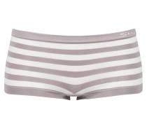 Panty - grau/ weiss gestreift
