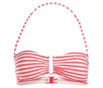 Bandeau-Bikini-Top - koralle/ weiss