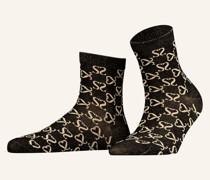 Socken mit Glitzergarn