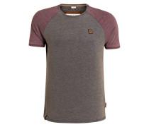T-Shirt - bordeaux/ grau meliert