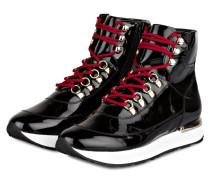 Hightop-Sneaker aus Lackleder