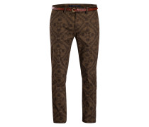Chino MOTT Super Slim-Fit - braun