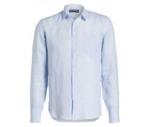 Leinenhemd CAROUBIS Regular-Fit - blau
