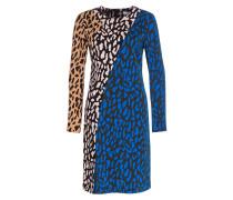 Kleid - schwarz/ blau/ camel