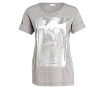 T-Shirt EBOX - grau meliert