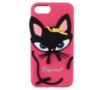 iPhone-Hülle D2 KITTY - schwarz/ pink