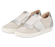 Slip-on-Sneaker - creme/ grau metallic