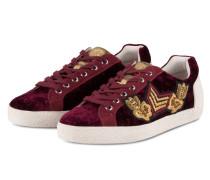 Samt-Sneaker - bordeaux