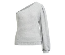 One-Shoulder-Pullover GLOOMY mit Glitzergarn