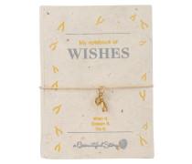 Armband und Notizbuch WISHES - beige