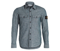Chambray-Hemd Slim-Fit