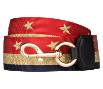 Schulterriemen - navy/ rot/ gold