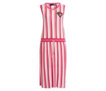 Strickkleid - pink/ weiss/ rosa