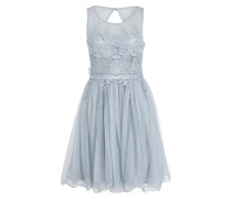 Kleid mit Spitzenbesatz - hellblau