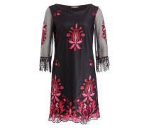 Kleid - schwarz/ rot/ rosa