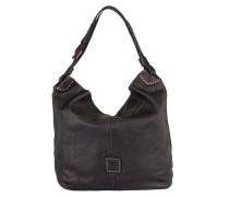Hobo-Bag mit Nietenbesatz - schwarz
