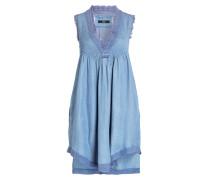 Kleid in Denim-Optik - hellblau