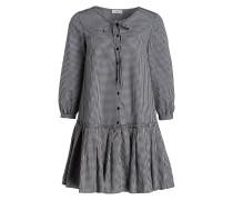 Kleid RANDY - ecru/ schwarz kariert