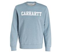 Sweatshirt - hellblau meliert