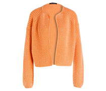 Cashmere-Strickjacke GABBY - orange