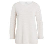 Pullover - ecru/ gold gestreift
