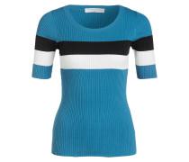 Strickpullover - blau/ weiss/ schwarz