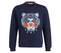 Sweatshirt - navy/ orange/ weiss